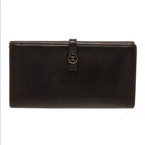 Chanel long wallet with coin pocket